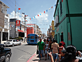 Street scene in Belize City