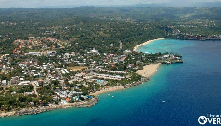 An aerial view of Las Terrenas, Dominican Republic