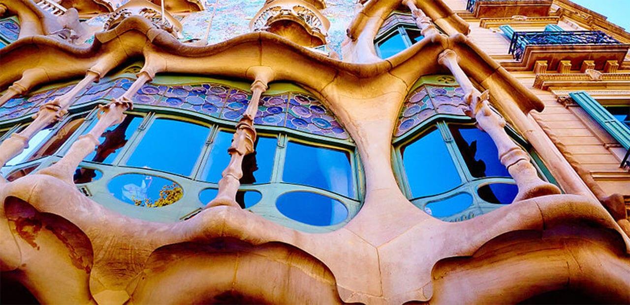 Gaudi apartment buildings in Barcelona