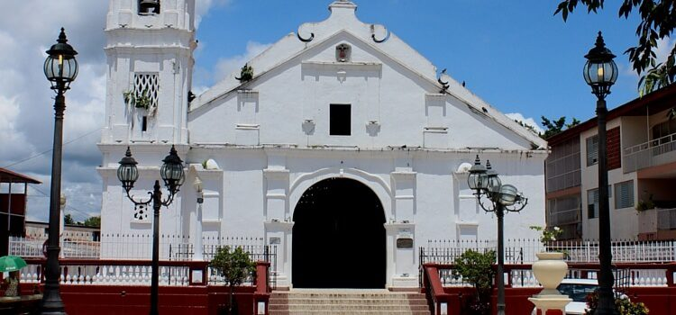 A view of the church located in downtown Las Tablas, Panama.