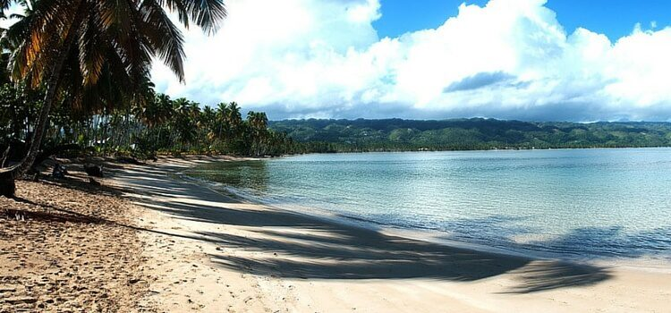 The lovely shores of Las Terrenas, Dominican Republic