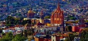 San Aerial view of Miguel de Allende, Mexico