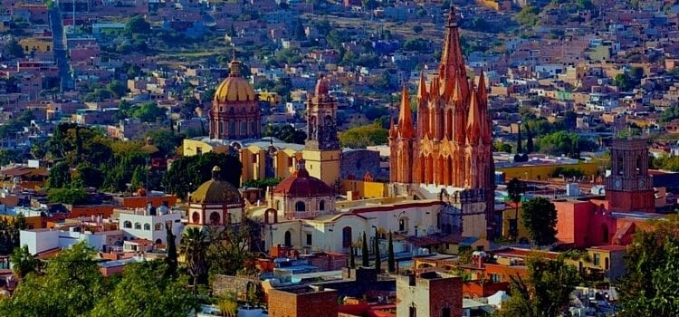 San Aerial view of Miguel de Allende, Mexico