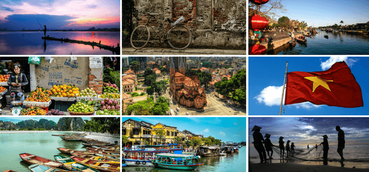 collage of images of Vietnam
