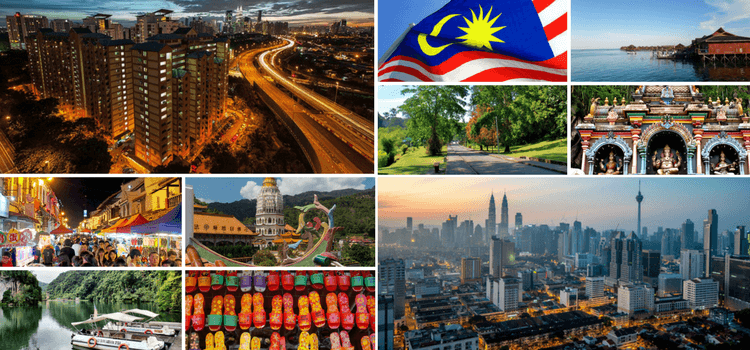 Collage of Images of Malaysia