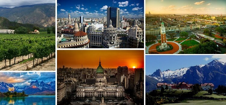 Collage of images from Argentina