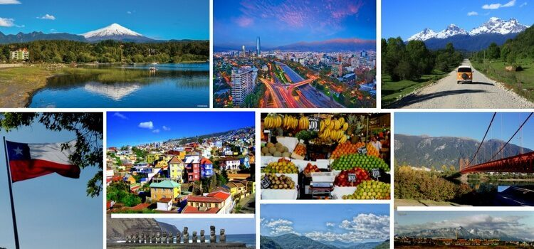 A collage of images from across Chile.