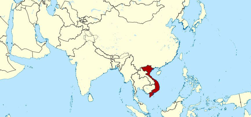 Map Of Vietnam's Lcoation in Southeast Asia
