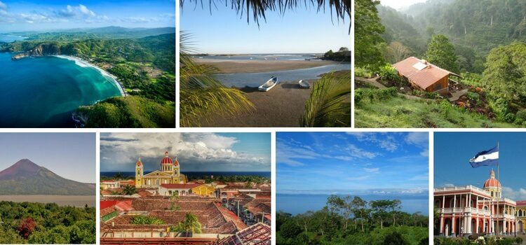 Collage of images from Nicaragua