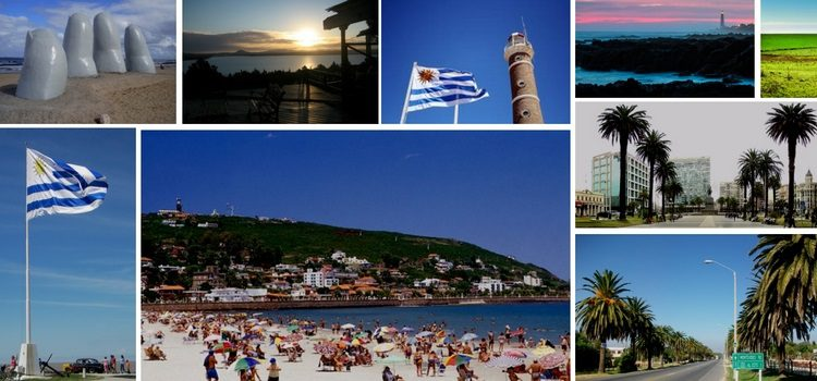 Collage of photos from across Uruguay, including beaches, scenic views, and the Uruguay flag.