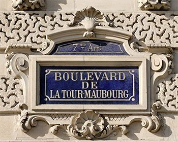 A Street Sign in Paris' 7th Arrondisement