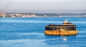 No Man's Land Fort in Solent off the coast of the Isle of Wight in the United Kingdom