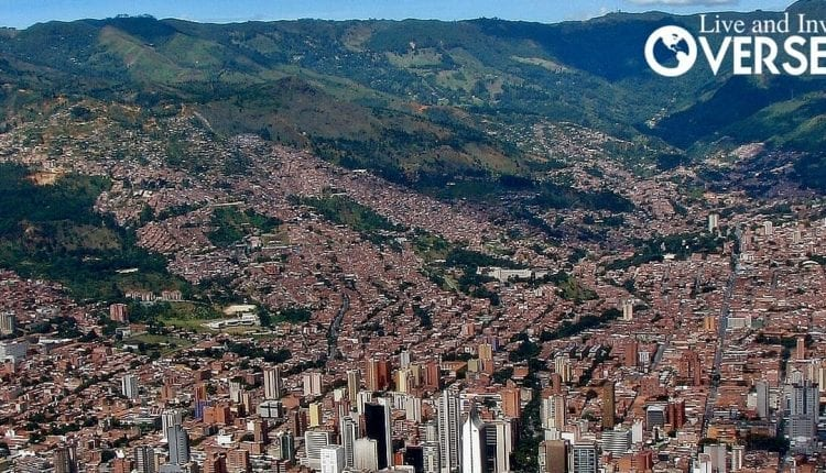 Arriving in Medellin, Colombia and the view of the city.