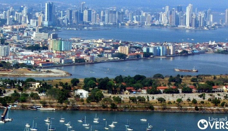 city view of panama with economic conditions improving