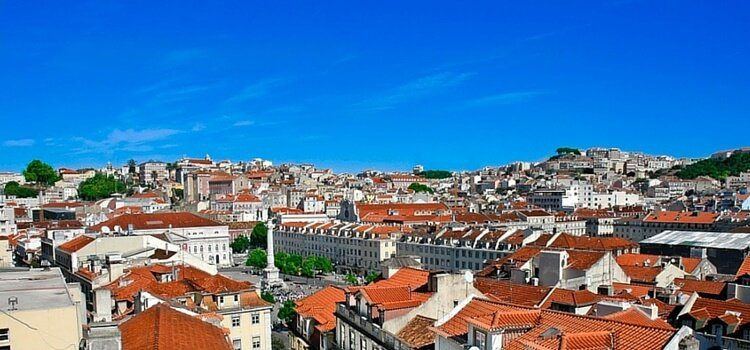 Blue sky, calm weather in Portugal
