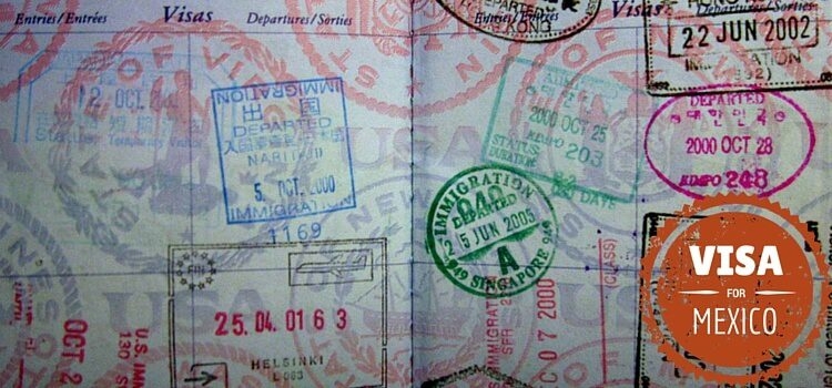 Passport full of stamps and Mexico visa