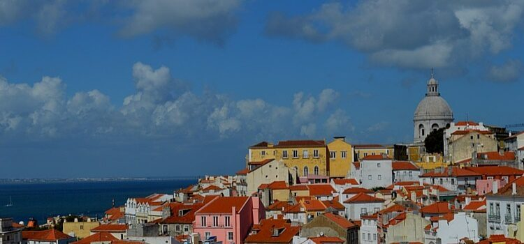 Real Estate in Portugal along the coast with orange roofing