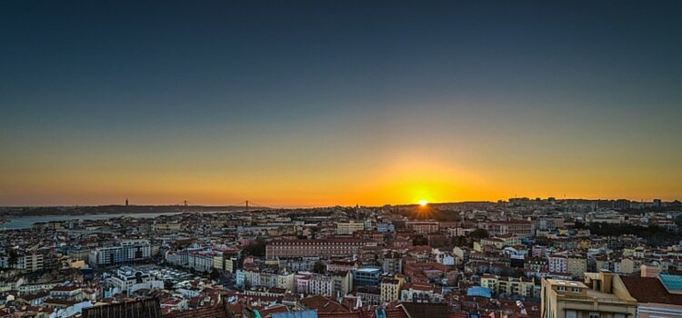 The sun going down over Portugal. It's good to know sunsets like these are abound if you are considering to retire in Portugal.