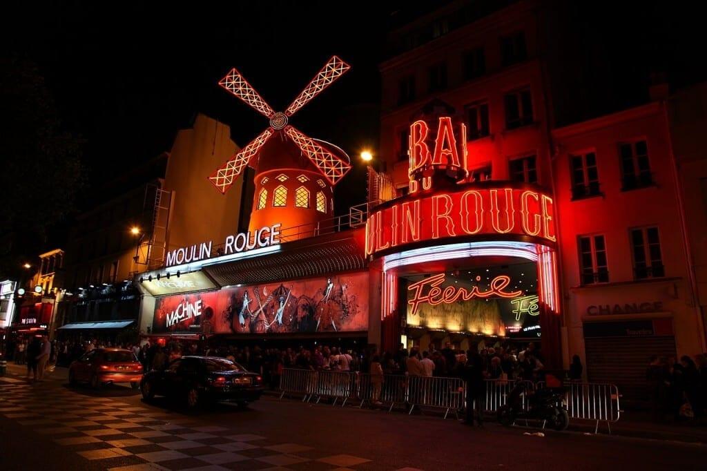 Moulin Rouge, on the Boulevard de Clichy.
