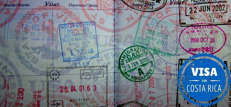 A passport with a Costa Rica visa stamp
