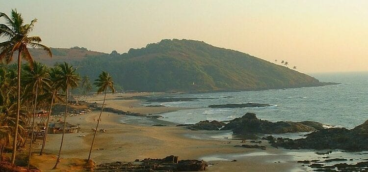 View of the shoreline in Goa, India