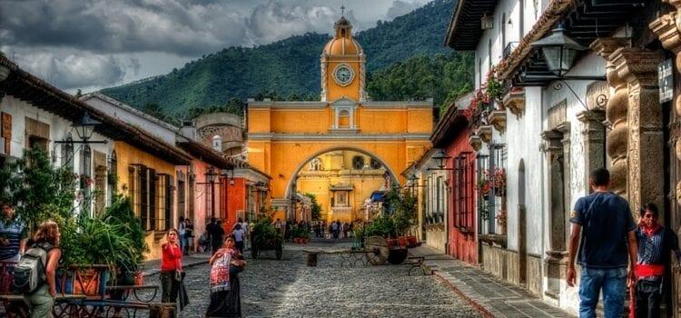 A street view of Antigua, Guatemala