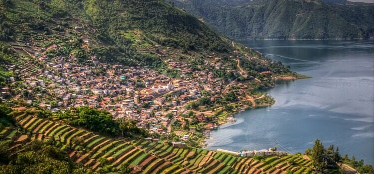 The hillside of Lake Atitlan, Guatemala