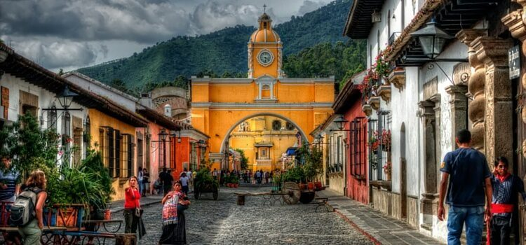 A street view of Antigua, Guatemala