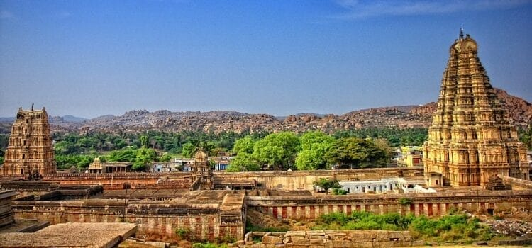 Virupaksha Temple located in Hampi, India