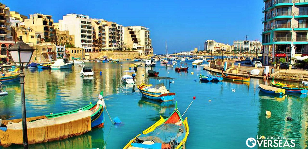 Waterways, docks, beaches and the Old World are combined while Living in Malta.