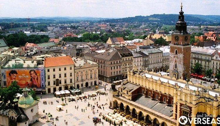 Krakow's Market Square is a must visit when traveling to Krakow, Poland