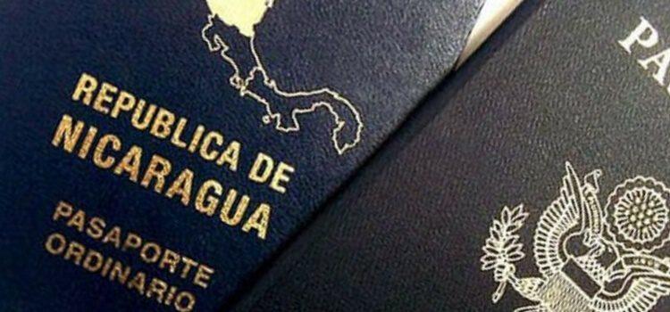A Nicaragua passport and U.S. passport.
