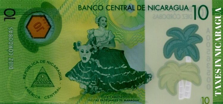 10 Nicarguan Cordobas used for paying taxes in Nicaragua