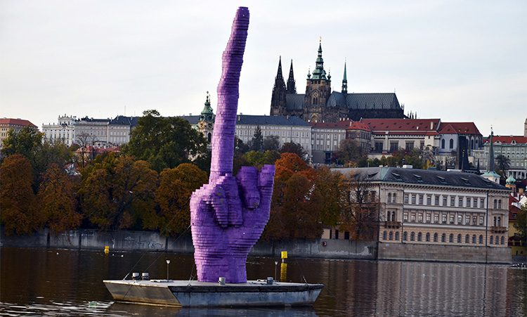 the gesture - david cerny - prague, czech republic