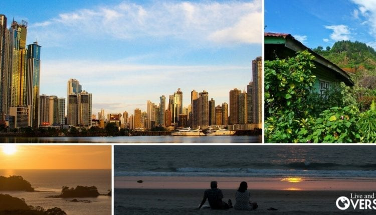A Panama collage featuring the best spots to retire in Panama - The City, Boquete, Azuero, between many more.