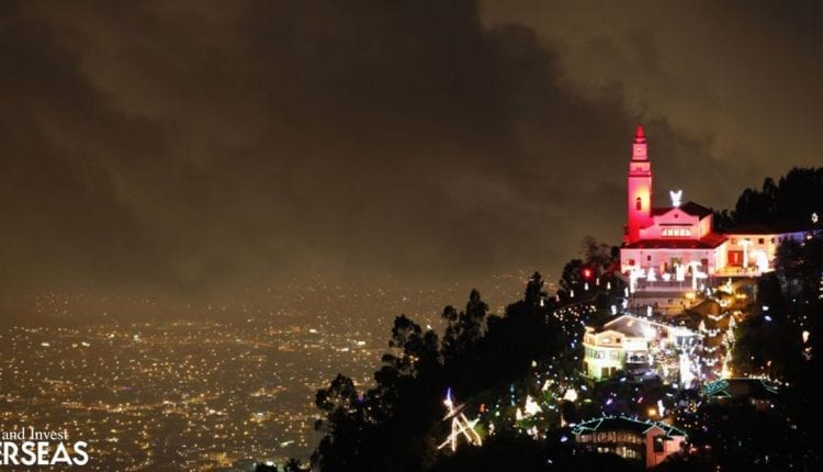 Christmas in Colombia is that much more magical when spent in Monserrate mountain, in Bogota.