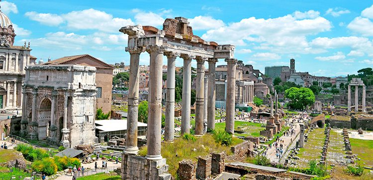 Ancient ruins in Rome Italy