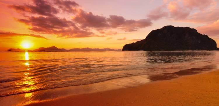 el nido sunset nacpnan beach
