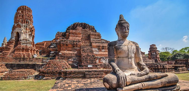 stone statues and ruins in Thailand