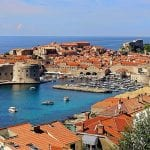 the picturesque stone buildings on the water's edge in Croatia