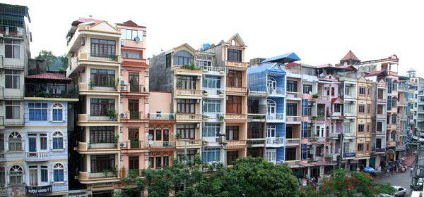 colorful apartment buildings in Vietnam