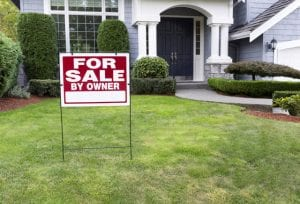 For Sale Sign In Garden