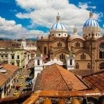 A blue sky day in Cuenca, Ecuador
