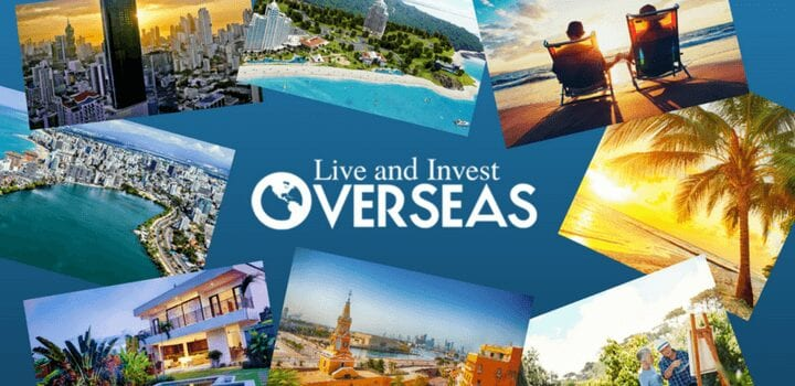 Welcome collage of images for living overseas.