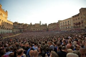 Large crowds at the Palio de Contrade