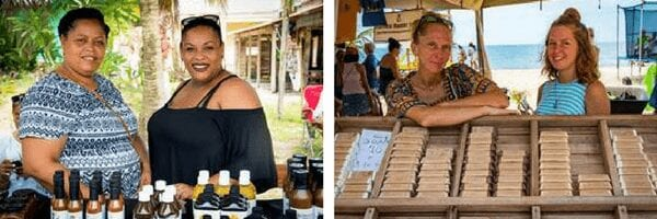 Locals Showcasing their fresh products for sale