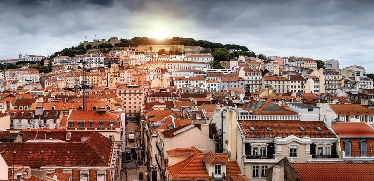 rooftop view over Lisbon, Portugal
