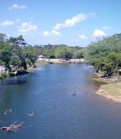 Macal River in San Ignacio Belize