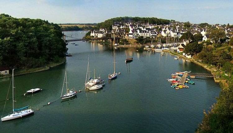 Boats docked in the bay of Morbihan