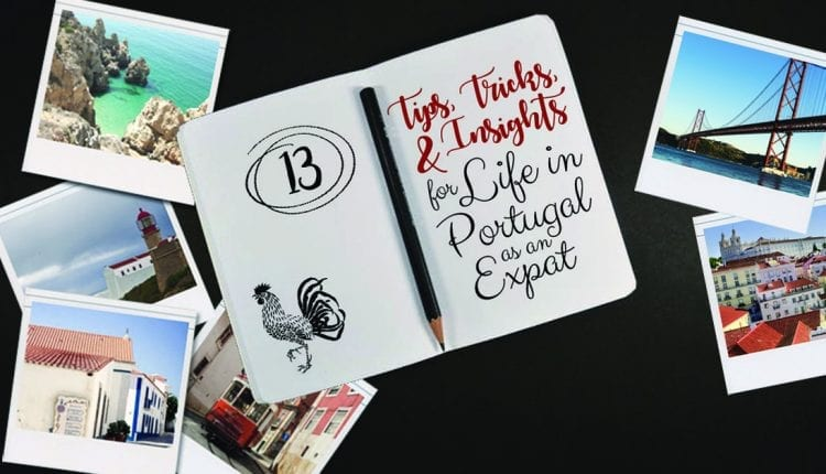 Notebook for writing down tips surrounded by polaroids of Portugal